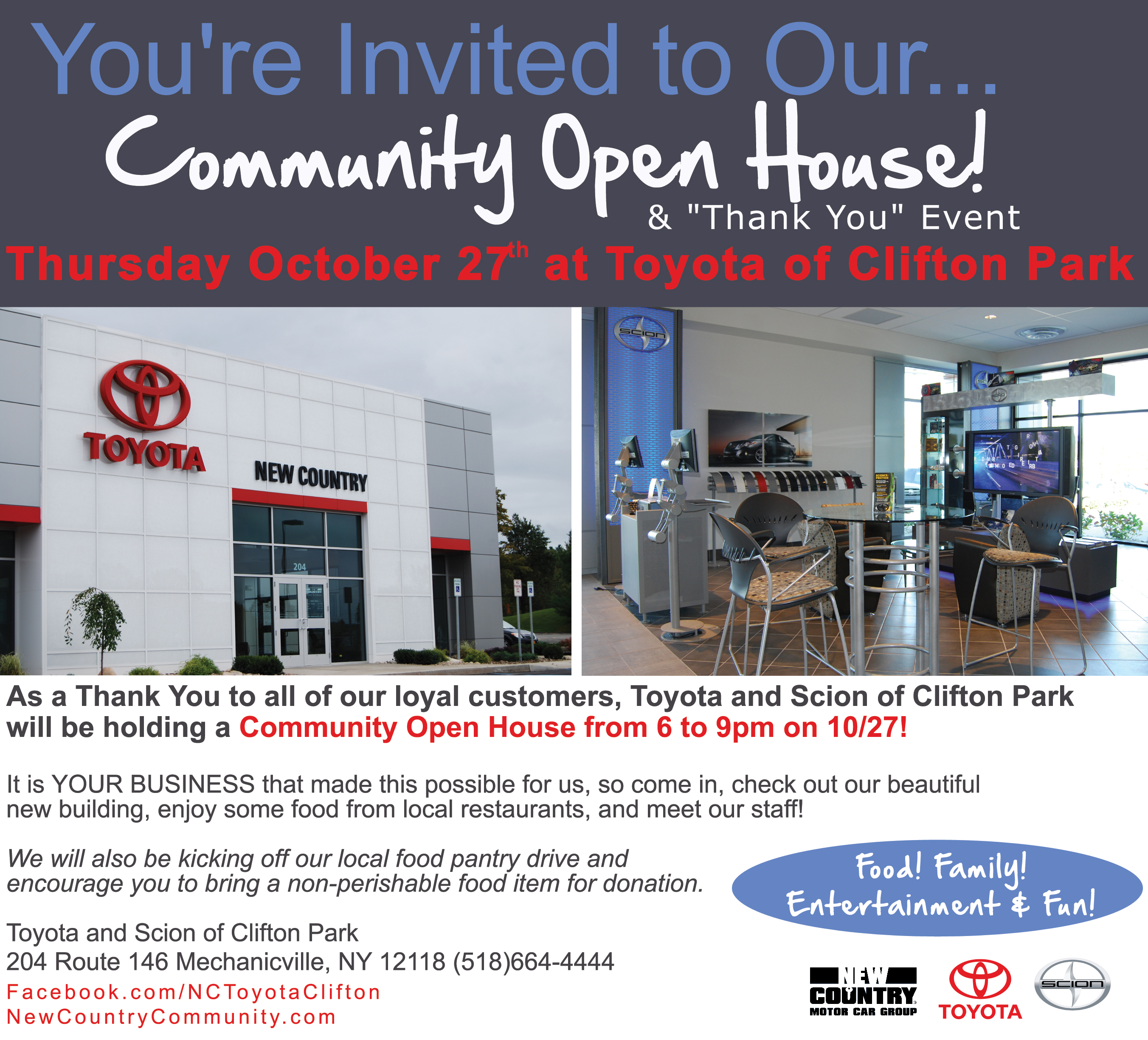 Perfect New Country Community » Youu0027re Invited To Our Community Open House At Toyota  Of Clifton Park