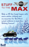 "New Country MINI Hosting 3rd Annual ""STUFF A MINI"" Winter Clothing Collection"