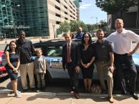 FIVE MINIS STUFFED TO THE MAX DELIVER DONATED SUPPLIES TO HARTFORD STUDENTS